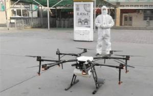 Drony Agras walczące z koronawirusem w Chinach