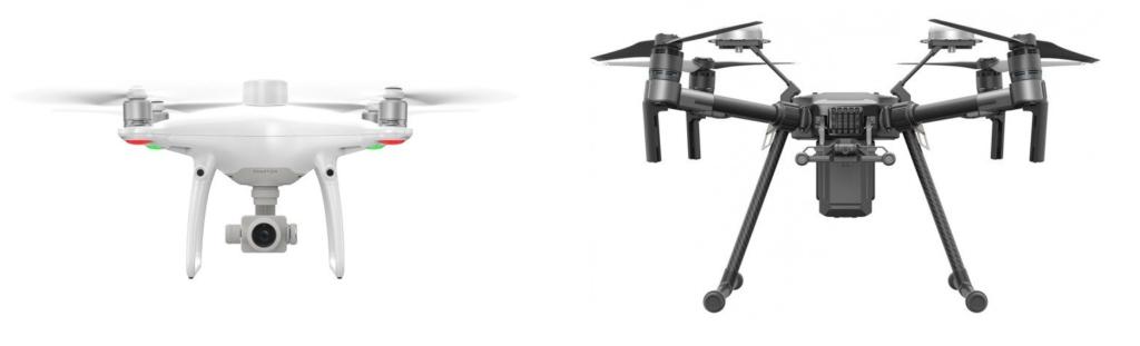 Drony z modułami RTK